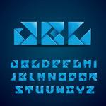 折纸大写字母