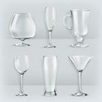 玻璃杯设计矢量