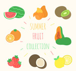 彩色夏季水果