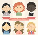 商务团队女子头像