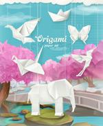 折纸动物插画