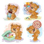 可爱泰迪熊矢量