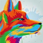彩绘狐狸头像