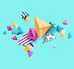 花纹立体三角