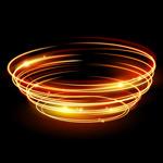 金色螺旋环光晕