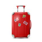 红色行李箱矢量