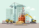 建筑施工插画