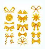 金色丝带蝴蝶结