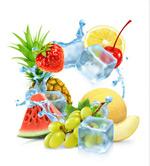 水果和冰块矢量