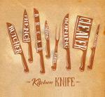彩绘厨房刀具