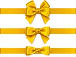 黄色蝴蝶结丝带