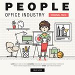 办公室人物插画