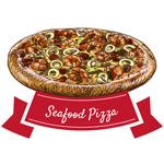 美味海鲜披萨