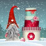 冬季精灵和礼盒
