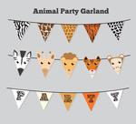 动物三角拉旗