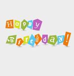 生日快乐剪纸字
