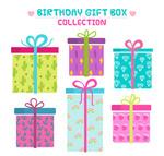 生日礼盒矢量