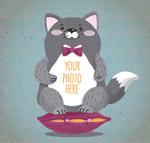 灰色猫咪框架