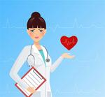 女医生与心电图