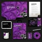 紫色VI��用模板