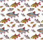 鱼类无缝背景