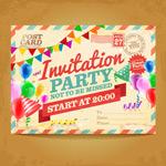 派对邀请明信片