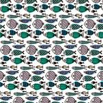 彩绘鱼类无缝背景