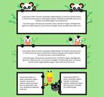 动物文字框架