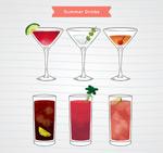 彩绘饮品矢量