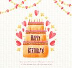 生日蛋糕贺卡