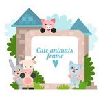 城堡小动物边框