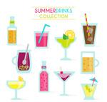 夏季饮品矢量