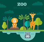 扁平化动物园动物