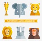 非洲动物头像