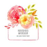 水彩玫瑰花框架