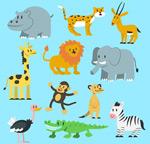 可爱野生动物矢量