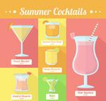 夏季鸡尾酒矢量