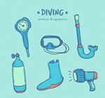 彩绘潜水用品