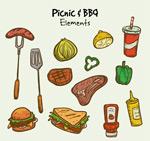 野餐烧烤食物