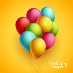彩色生日气球场景
