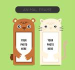 可爱动物照片框架