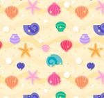 贝壳和海星背景