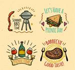 野餐与烧烤标签
