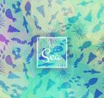 海洋生物剪影背景