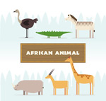 非洲动物侧面