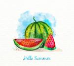 彩绘夏季西瓜
