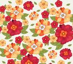 艳丽花朵无缝背景
