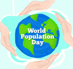 世界人口日贺卡