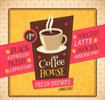 咖啡屋海报矢量