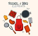 烧烤与野餐元素